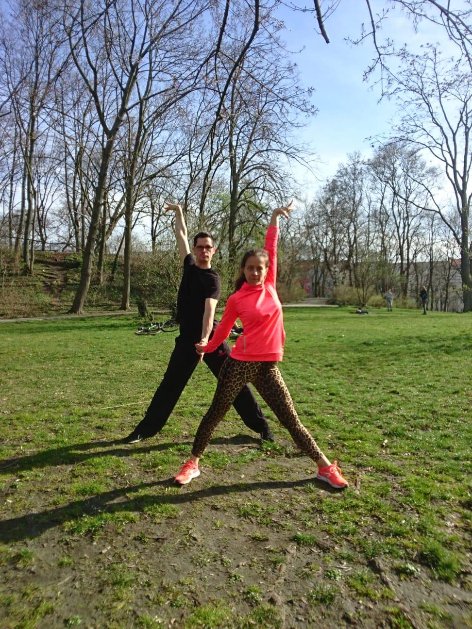 Wir trainieren im Volkspark Friedrichshain